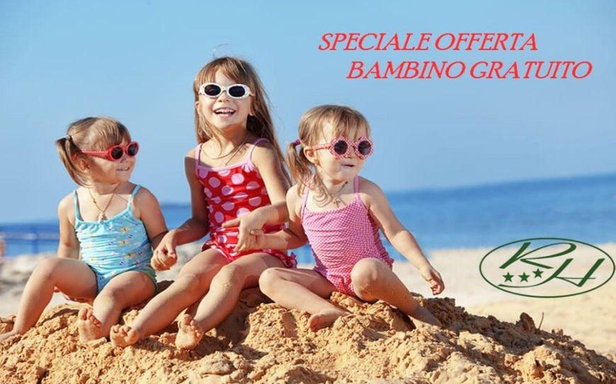 Offerta Bambino Gratis - Hotel Praia a Mare