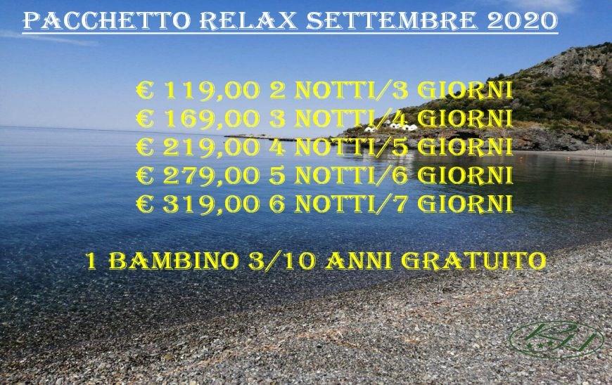 Pacchetto Relax Settembre 2020